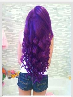 Feeling funky? Try out purple hair using hair dye from a Duane Reade around the corner!