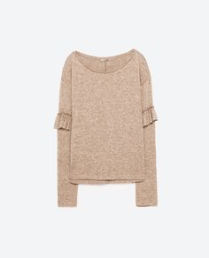 Image 8 of SWEATER WITH FRILLED SLEEVES from Zara