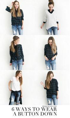 Six ways to wear a button down | merricksart.com