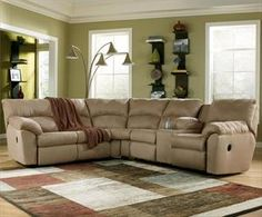 Ashley Casual 2-Piece L-Shaped Reclining Sectional with Pillow Arms  $919.99