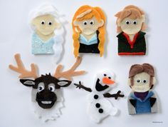 These DIY Frozen finger puppets could easily provide hours of entertainment for little fingers.