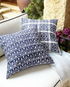 Drakon Outdoor Pillows By John Robshaw At Neiman