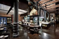 """Tour the Chefs Club Restaurant by """"Food & Wine"""" Magazine at the Landmark Puck Building   6sqft"""