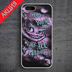 """Cheshire Cat #4"" Case for iPhone 4/4S, 5/5S, 6. Worldwide shipping. Store's url http://vk.com/market-71763847"