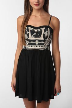 Urban Outfitters Embroidered Top Dress
