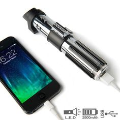 Star Wars Lightsaber Portable Charger - Why don't I have this?