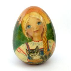 Пасхальное яйцо Аленушка, авторская работа  Easter egg, author's work