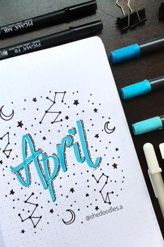 25 Wonderful April Bujo Spreads You Need to See - atinydreamer Bullet Journal School, Bullet Journal Inspo, April Bullet Journal, Bullet Journal Banner, Bullet Journal Aesthetic, Bullet Journal Notebook, Bullet Journal Spread, Bullet Journal Layout, Life Journal