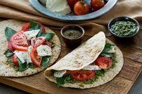 Caprese Salad Wraps Recipe on Yummly. Wrap Recipes, Asian Recipes, Snack Recipes, Cooking Recipes, Ethnic Recipes, Corn Tortilla Recipes, Tortilla Wraps, Broccoli Casserole, Chicken Casserole