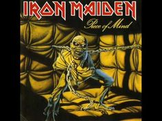 Iron Maiden - Piece of Mind ( Heavy Metal ) Year ( Ano ): 1983 Tracklist: Where Eagles Dare Revelations Flight of Icarus Die With Your B. Iron Maiden - Piece of Mind Bruce Dickinson, Dream Theater, Iron Maiden Album Covers, Iron Maiden Albums, Metallica, Black Sabbath, Rock And Roll, Eddie The Head, Dave Murray