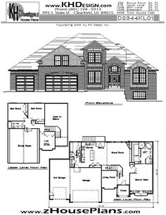 house plan for two story...like the downstairs...not crazy about a two story at my age!