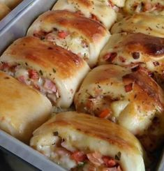 "Search for ""Salgados"" Hot Cross Buns, Tasty, Yummy Food, Calzone, Crepes, Sausage, Food Photography, Food And Drink, Bread"