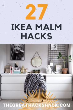 We love the Ikea Malm dresser. The fact that it is so plain makes it rip for hacking! These Ikea Malm hacks will show you how you can create something incredible. #ikeamalmhacks #ikeahacks #malmdresserhacks #ideas Room Ideas Bedroom, Bedroom Decor, Master Bedroom, Diy Furniture Ikea, Ikea Malm Dresser, Best Ikea, Ikea Home, Home Budget, Diy Home Decor