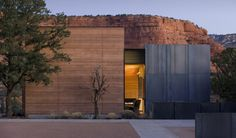 The premise of the International style, that the materials evoke their own ornament, finds its way into unexpected places. A rammed-earth wa...