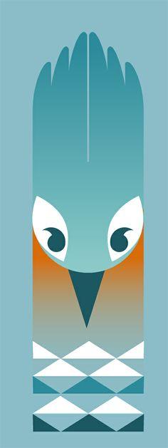 Totem illustration Kingfisher