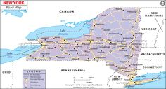 New York Road Map - different routes you can take