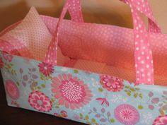 Soft Pink Floral Doll Carrier by linsueray on Etsy