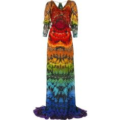 rainbow ❤ liked on Polyvore featuring dresses, tops, butterfly print dress, rainbow dress, alexander mcqueen, butterfly dress and moth dress