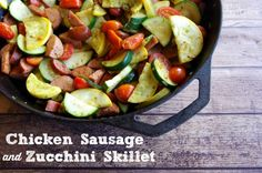 chicken sausage and zucchini skillet
