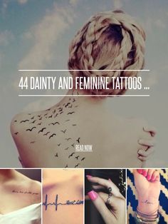 44 Dainty and Feminine Tattoos ... - Beauty [ more at http://beauty.allwomenstalk.com ] Dainty and feminine tattoos are perfect for people who want to express themselves without covering their whole body with ink. Small tattoos are very subtle and easy to cover when needed, yet they still carry the same amount of profound meaning as any other tattoo. Plus they always look classy and sophisticated especially on female bodies, just take a look at ... #Beauty #Cross #Source #Wrist #Star…