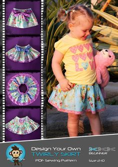 Boo twirly skirt pattern