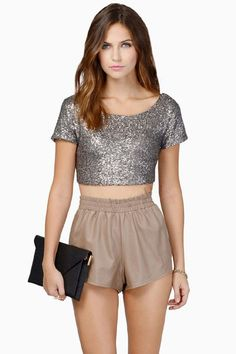 1ac8537922d Summer Women Crop Tops Short Sleeve Vest Sexy Fashion Shine Sequins Brand  Backless Lo Shi Short