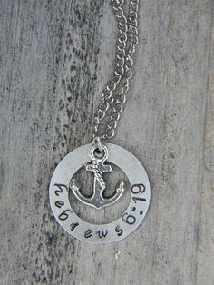 Anchor Hebrews 6:19 Necklace. Gorgeous.