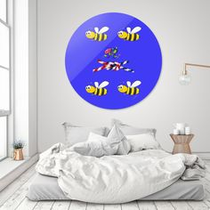 Discover «To Bee or Not to Bee», Exclusive Edition Disk Print by Tony Meaney - From $85 - Curioos