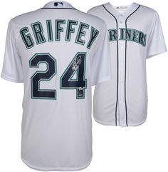 6d60a35141 Ken Griffey Jr. Seattle Mariners Autographed White Majestic Jersey –  TRISTAR #sportsmemorabilia #autograph