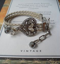 Bracelet with Swarovski Crystal by SwedishShop on Etsy, $9.90