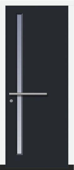 Deurtype MOD 01 Modern Front Door, Front Door Design, Entrance Doors, Garage Doors, Front Doors, Front Door Handles, Family Fun Day, Internal Doors, Wood Doors
