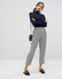 ASOS Tailored Tapered Houndstooth Check Pant - Multi