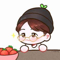 Exo Cartoon, Cute Cartoon Characters, Baekhyun Fanart, Park Chanyeol Exo, Kyungsoo, Chanbaek, Exo Stickers, Exo Anime, Kpop