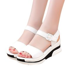 Mokingtop Women's Summer Sandals shoes women 2017 open heeled sandals Platform Shoes woman Open Toe Gladiator wedges shoe #0504 #CLICK! #clothing, #shoes, #jewelry, #women, #men