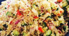 【つくれぽ250件!感謝!】たった3ステップで出来るキヌアサラダ。コンソメで炊くのとクミンが隠し味。この味はハマります