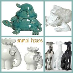 ceramic animals are the rage * from turtles and elephants to frogs and dogs