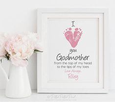 Turnaround time for proofs is currently 1-2 business days for use custom on file and use stock orders and 1-2 business days for use custom orders. Thank you! ____________________________________________________________ GODMOTHER I LOVE YOU FOOTPRINT ART, UNFRAMED Custom art print