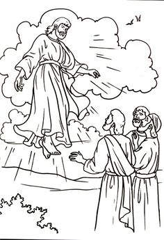 Jesus Coloring Pictures Children Bible Pages
