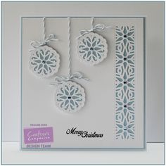 """6"""" square card using Crafter's Companion Die'sire Christmas Cut In Create-A-Card - Ornate Snowflake die. Designed by Pauline Bird #crafterscompanion"""