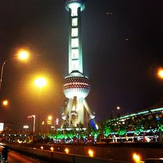 """""""The Pearl Tower in Shanghai, China""""  BlackCardCircle.com"""