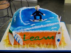Surfing Cake - Chocswirl Cakes