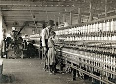 The superintendent and one of the spinners, Catawba Cotton Mills, Newton, NC. Others smaller still. Ten boys and girls this size and smaller out of a force of 40 employees, 1908 - Vintage Photos: Lewis Hine - Mill Workers, ctd