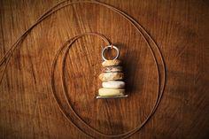 Cairn Pebble Pendant Necklace