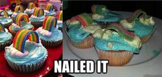 """Rainbow Cupcakes: 