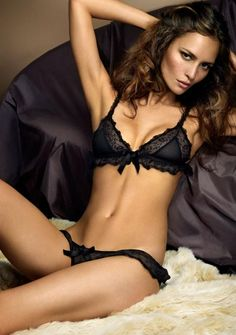 Sheer Black #Lingerie - Lacy Triangle #Bra & #Sexy Undies