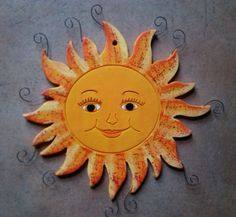 Star Cloud, Sun Moon Stars, Hand Built Pottery, Sun Art, Painted Pots, Hanging Art, Clay Art, Projects For Kids, Polymer Clay
