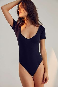 Out From Under Hailee Ribbed V-Neck Bodysuit - Urban Outfitters