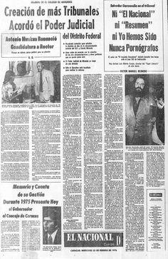 """Salvador Garmendia es juzgado por su cuento """"El inquieto anacobero"""". Página publicada el 25 de febrero de 1976."""