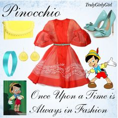 Disney Style: Pinocchio, created by trulygirlygirl on Polyvore