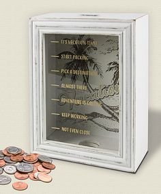 Look what I found on #zulily! Wood Vacation Fund Bank by Young's #zulilyfinds Inspiration for DIY project